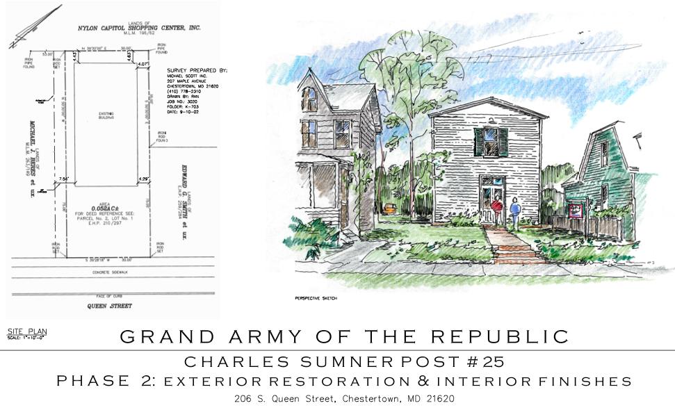 Architect Prints for GAR Charles Sumner Post #25